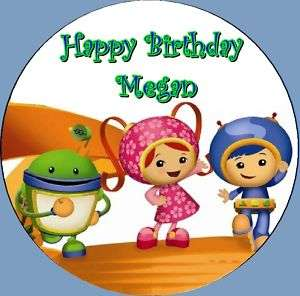 Team Umizoomi Frosting ROUND Edible Cake Topper Image |