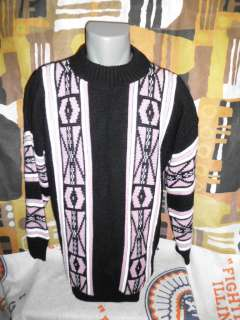 Vtg 80s Private Eyes Winter Ski Ugly Acrylic pullover Sweater LARGE
