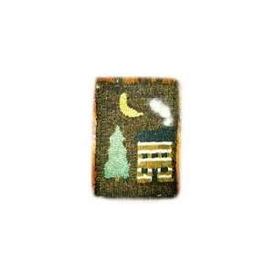 Beginner Rug Hooking Kit   Cabin with Smoke 5X7: Home