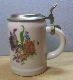 Vintage German Lidded Beer Stein Flowers WMF #U7
