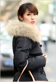2011 New style womens 90% duck down big fur winter long coat jacket