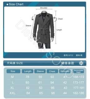 Classic Mens Military Trench Rain Coats Army Jackets