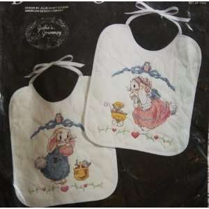 Baby Wares 2 Bunny Rabbit Bibs Counted Cross Stitch Kit