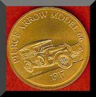 Franklin Mint Antique Car Token 1917 PIERCE ARROW 66