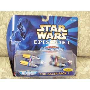 Star Wars Episode I MicroMachines Pod Racer Pack 1 Toys & Games