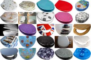 Quality Black Dark Glitter Sparkle Resin Toilet Seat