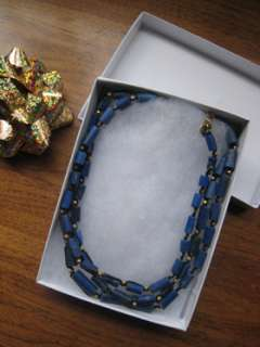 Chan Luu extra long natural LaPis braided necklace NEW PRICE BREAK NO