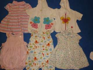 70pc BABY GIRL TODDLER 6 9 9 6 12 MONTH LOT CLOTHES spring summer LOT