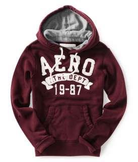 Aeropostale mens AERO Athl Dept 19 87 hooded sweatshirt   Style # 3444