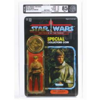 Luke Skywalker Endor Gear AFA 85 (POTF 92 Back) Vintage Power of the