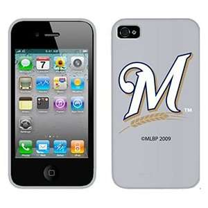 Milwaukee Brewers M in White on Verizon iPhone 4 Case by