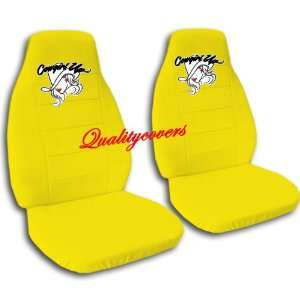 Yellow Cow Girl car seat covers for a 2002 Toyota Camry. Automotive