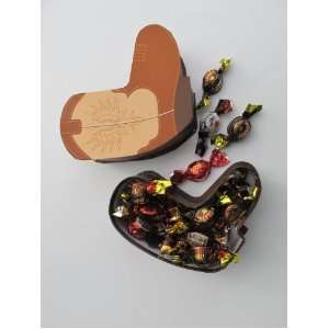 Cowboy Boot Gift Box Filled with Turin Non alcoholic Chocolate Candy