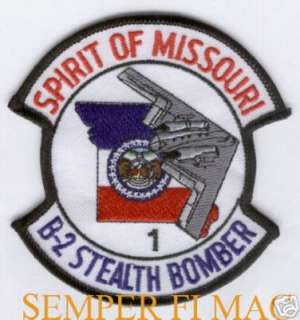 B2 SPIRIT OF MISSOURI PATCH US AIR FORCE STEALTH BOMBER