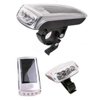 Bicycle Bike Car Headlights 4 LED Solar Powerd Energy Head Front Light