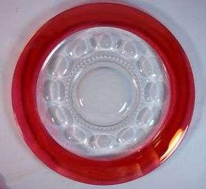 Tiffin Kings Crown Ruby 13 Sandwich or Torte Plate