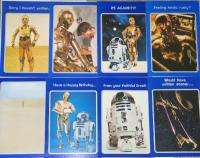 Set of 8 Droid Star Wars Movie Greeting Cards 1977 MINT