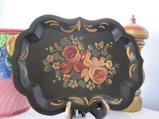 BEST MINT Victorian Design Roses Vintage Hand Painted Dresser Vanity