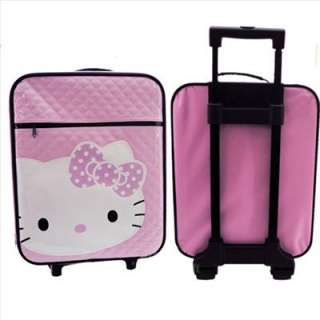 Hello Kitty 20 Luggage Trolley Roller Carry On Diamond Check Quilt