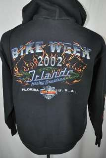 HARLEY DAVIDSON BIKE WEEK ORLANDO black flames biker motorcycle hoodie