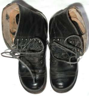 Early Vietnam War US Army Cap Toe Combat/ Paratrooper Boots, Size 7R
