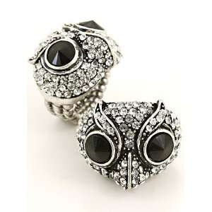Fashion Jewelry Desinger Inspired Silver Owl Ring