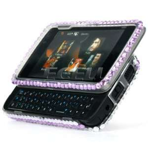 HEARTS 3D CRYSTAL DIAMOND BLING CASE FOR NOKIA N900 Electronics