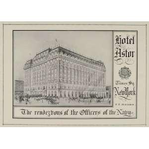 1921 ORIGINAL Ad Hotel Astor Times Square New York City
