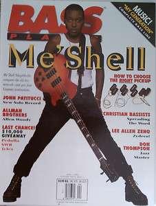 Bass Player Magazine April 1995 MeShell NdegeOcello MINT