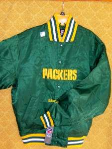 Half Off New Large Green Bay Packers Satin Sideline Jacket NFL Coat