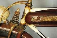 Montgomery Wards Hawthorne balloon tire bicycle bike blue flash red