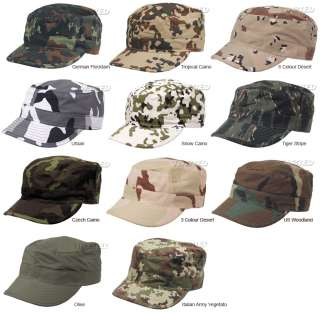 MFH brand US Army style BDU combat field caps. These hats are