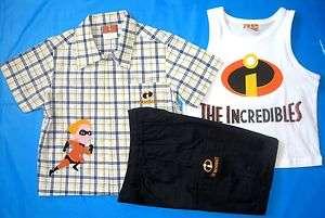 BNWT The Incredibles Shirt Tank Shorts 3pc Set brand new