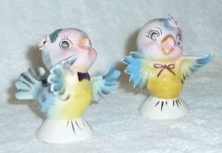 Bluebird Blue Bird Salt Pepper Shakers Norcrest Rhinestone Eyes