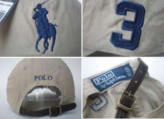 NWT Polo Ralph Lauren Baseball Classic Pony Cap Hat Back Leather Strap