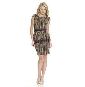 Calvin Klein animal print belted dress M 10 nwt $128