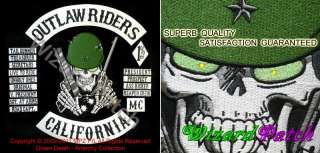 SONS OF OUTLAW RIDERS BIKER PATCH SET BY ANARCHY 18 PCS