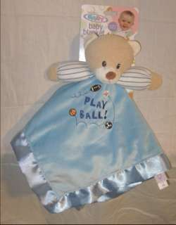 Boy Blue Mary Meyer Little MVP Baby Security Blanket Bear Lovey New on