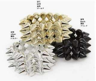 Fashion Jewelry Punk Style Spike Hedgehog Rivets Bracelet New Star HOT