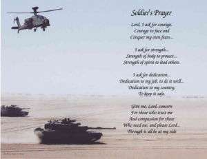 Military Soldiers Prayer Poem Print