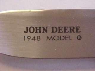 Franklin Mint JOHN DEERE TRACTOR KNIFE 1948 MODEL FARM