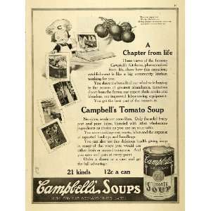 1919 Ad Campbells Canned Tomato Soup Souper Kid Poem