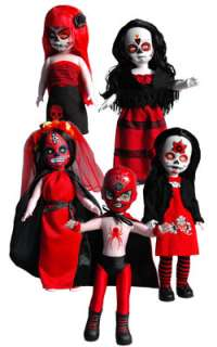 Day of the Dead Set of 5 Dolls Día de los Muertos New Near Mint