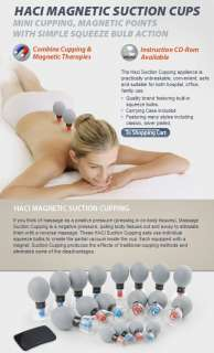 HACI Classic 8 Cupping Cup Set Magnetic Acupressure Suction Chinese