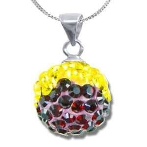 Ashley Arthur .925 Silver Garnet & Gold Swarovski Crystal