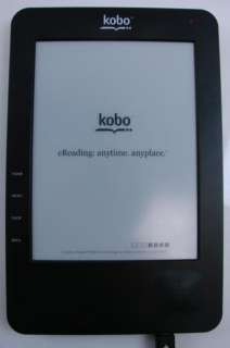 Kobo eReader N647 WiFi Vinyl Case Manual USB Cable Library Portable