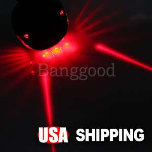 Cycling Bicycle Bike Laser Light Beam Lane Rear Back Tail LED Caution