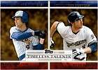 2012 TOPPS TIMELESS TALENTS PAUL MOLITOR & RYAN BRAUN #TT 1