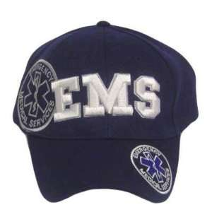 EMERGENCY MEDICAL SERVICES WHITE NAVY BLUE HAT CAP