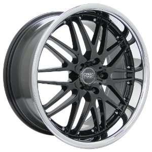 Racing Raven (Series 523) Black with Chrome Lip   20 x 8.5 Inch Wheel